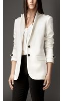 Burberry Straight Fit Tailored Jacket - Lyst