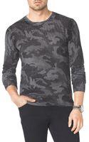 Michael Kors Camoprint Knit Sweater - Lyst