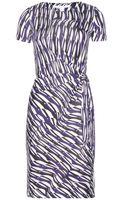 Diane Von Furstenberg Zoe Printed Silkjersey Dress - Lyst