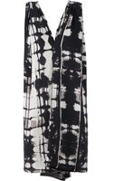 Gustavo Lins Draped Printed Jersey Dress - Lyst