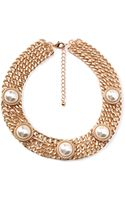 Forever 21 Faux Pearl Chain Necklace - Lyst