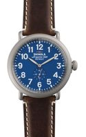 Shinola The Runwell Blue Dial Leather Strap Watch 47mm - Lyst