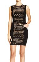 Versus  Dress Sleeveless Punto Milano and Studs - Lyst
