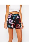 Asos Culotte Shorts in Floral Print - Lyst