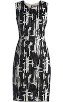 BCBGMAXAZRIA Larisa Sleeveless Fitted Sequin Dress - Lyst