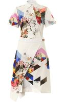 Preen By Thorton Bregazzi Celeste Printed Shirt Dress - Lyst