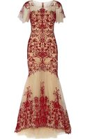 Notte By Marchesa Embroidered Tulle Gown - Lyst