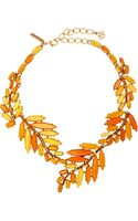 Oscar de la Renta Marquise Goldtone Crystal and Resin Necklace - Lyst