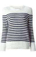 A.P.C. Striped Sweater - Lyst