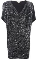 Pinko Sequined Dress - Lyst
