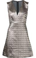Alice + Olivia Metallic Dress - Lyst