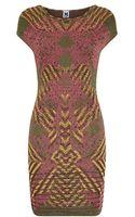 M Missoni Jacquard Optical Illusion Dress - Lyst