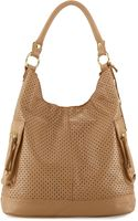 Linea Pelle Dylan Perforated Leather Hobo Bag - Lyst