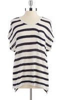 Two By Vince Camuto Short Sleeved Striped Top - Lyst