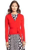 Diane Von Furstenberg Ballerina Wool Wrap Sweater - Lyst