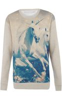 Stella McCartney Unicorn Print Sweatshirt - Lyst