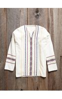 Free People Vintage Embroidered Tunic Shirt - Lyst