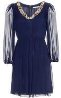 Alice + Olivia Rease Silk Chiffon Dress - Lyst