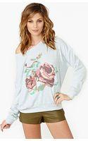 Nasty Gal Rose Stitch Sweatshirt - Lyst