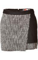 MSGM Rubberized Tweed Skort - Lyst