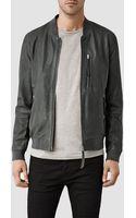 AllSaints Blythe Leather Bomber Jacket - Lyst