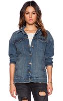 Free People Long Denim Jacket - Lyst