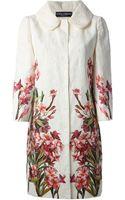 Dolce & Gabbana Floral Print Coat - Lyst