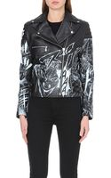 McQ by Alexander McQueen Manga Leather Biker Jacket - Lyst