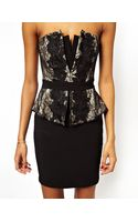 Lipsy Bandeau Dress with Lace Corset - Lyst