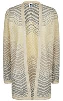 M Missoni Lurex Ripple Knit Cardigan - Lyst