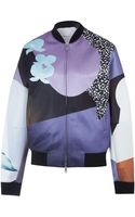 3.1 Phillip Lim Purple Graphic Floral Print Bomber Jacket - Lyst