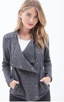 Love 21 Marled Knit Shawl Collar Jacket - Lyst