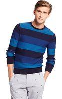 Tommy Hilfiger Crew Neck Stripe Sweater - Lyst