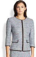 St. John Chain-trim Tweed Jacket - Lyst