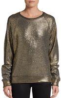 C&c California Metallic French Terry Sweater - Lyst