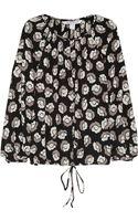 Diane Von Furstenberg Printed Stretch-silk Blouse - Lyst
