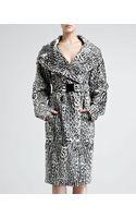 Donna Karan New York Ocelotprint Goatskin Trench Coat - Lyst