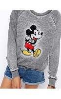 Asos Sweatshirt with Embroidered Mickey in Soft Fabric - Lyst