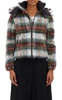 Junya Watanabe Plaid Hooded Puffer Jacket - Lyst