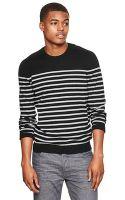 Gap Cotton Cashmere Striped Crew Sweater - Lyst