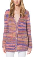 Michael Kors Space Dyed Mohair Cardigan - Lyst