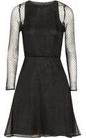 Karl Lagerfeld Edita Swiss-dot Silk-chiffon Mini Dress - Lyst