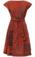 Vivienne Westwood Anglomania Moa Stave Laceprint Dress - Lyst