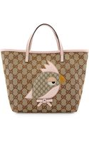 Gucci Girls Gg Canvas Zoo Tote Bag - Lyst