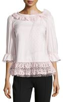 RED Valentino Lace  Tulletrim Blouse - Lyst