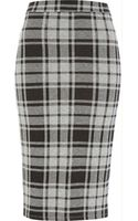 River Island Grey Check Pencil Skirt - Lyst