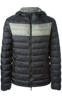 Armani Jeans Hooded Padded Jacket - Lyst
