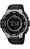 G-shock Digital Pro Trek Black Resin Strap Watch - Lyst