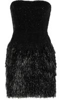 Roberto Cavalli Fringed Sequined Dress - Lyst