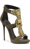 Giuseppe Zanotti Jeweled Tribal Leather Sandals - Lyst
